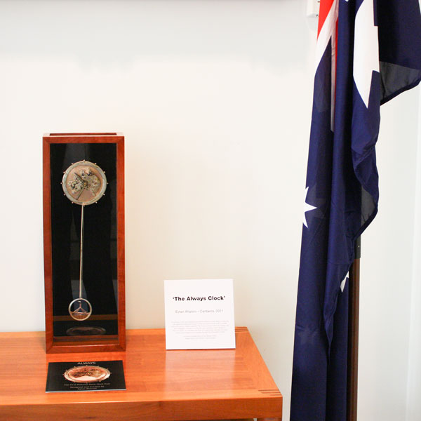 The Always Clock installed in the suite of the Speaker of the House